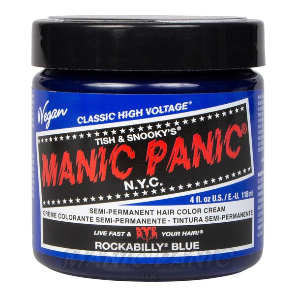 Manic Panic Coloration Semi permanente Classic High Voltage 118ml (Rockabilly Blue - Bleu)