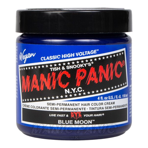 Tintura Per Capelli Semi-Permanente Manic Panic Classic High Voltage 118ml (Blue Moon - Blu)