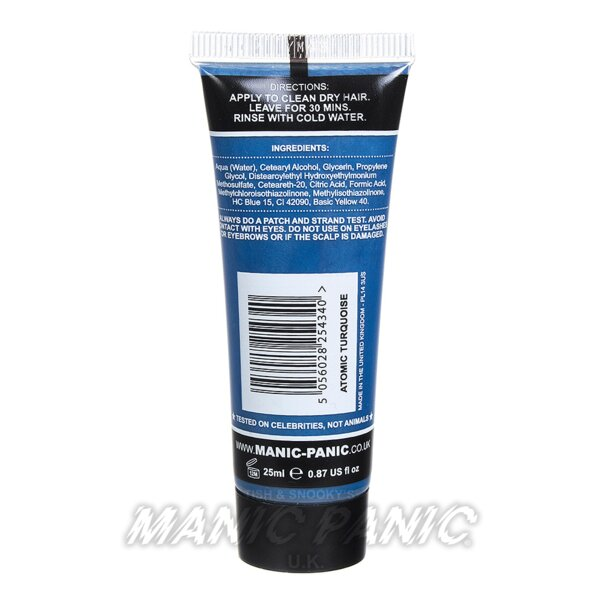 Manic Panic High Voltage® Classic Hair Colour 25ml (Atomic Turquoise)