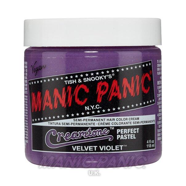 Manic Panic Creamtones Perfect Pastel Tinte Capilar Semi-Permanente 118ml (Velvet Violet - Violeta)