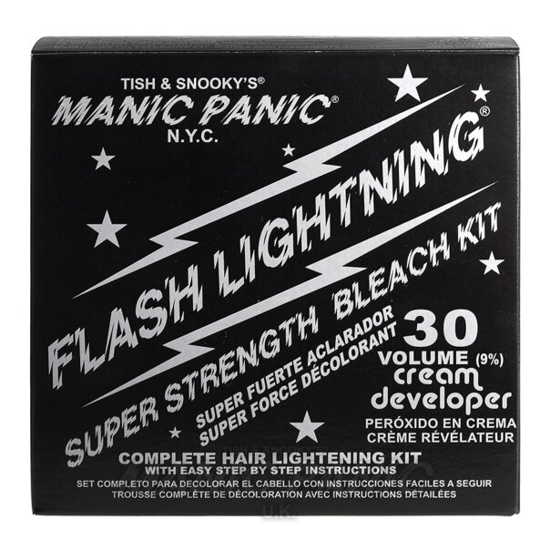 Manic Panic Flash Lightning Kit de DeColoración Capilar (Crema Desarrolladora Volumen 30)