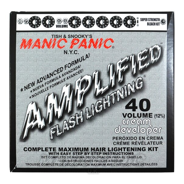 Manic Panic Flash Lightning Kit de DeColoración Capilar (Crema Desarrolladora Volumen 40)