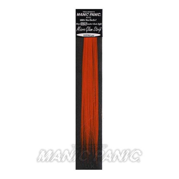 Manic Panic Glam Extesiones de Pelo Sintético (Electric Lava - Naranja)