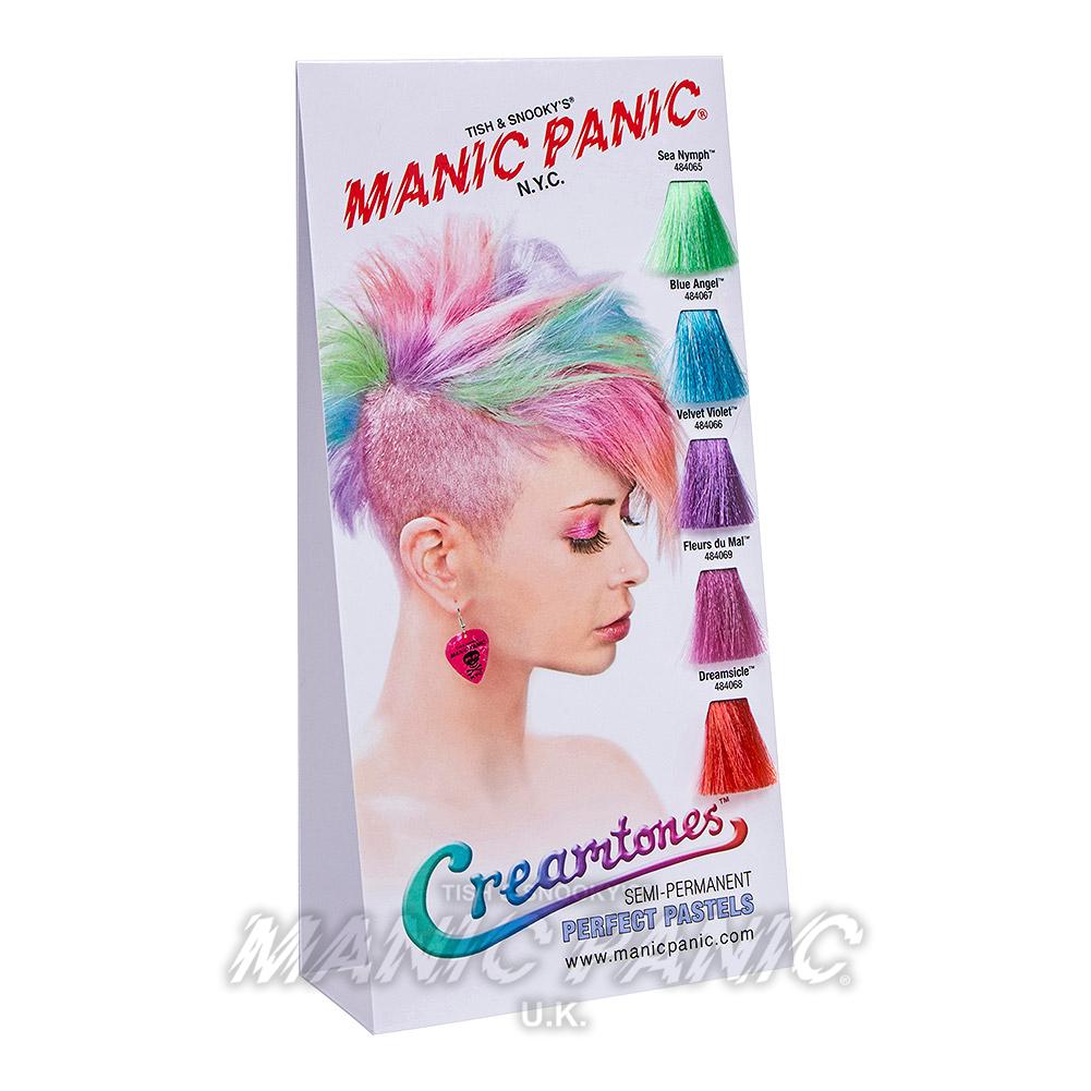 Creamtones Haarfarben Musterkarte   Manic Panic DE